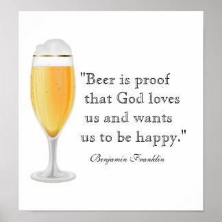 Poster de la cita de la cerveza