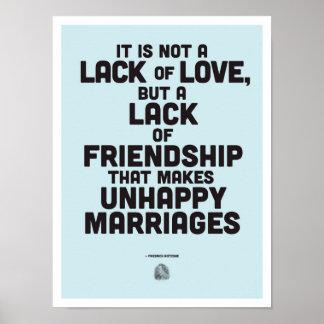 Poster de la cita de la filosofía de la boda
