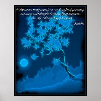 Poster de la cita de la mente de Buda