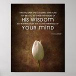 Poster de la cita de la sabiduría