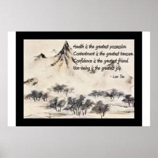 Poster de la cita de la salud de Tzu del Lao