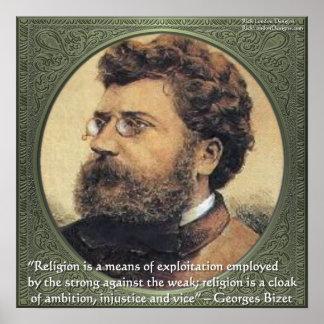 Poster de la cita de las hazañas de la religión de