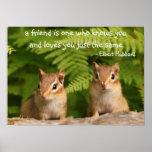 Poster de la cita de los amigos del Chipmunk del b