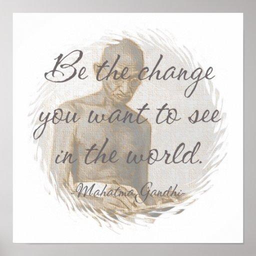 Poster de la cita de Mahatma Gandhi