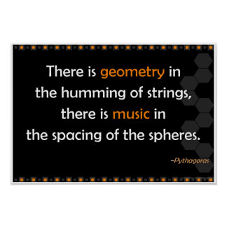 Poster de la cita de Pitágoras de la geometría Póster