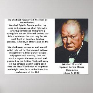 Poster de la cita de Winston Churchill