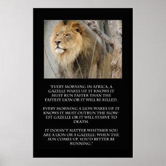 Poster de la cita del funcionamiento del Gazelle d Póster