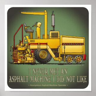 Poster de la cita del maquinista de pavimentación póster