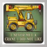 Poster de la cita del operador de camión de la grú