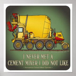 Poster de la cita del operador de camión del mezcl