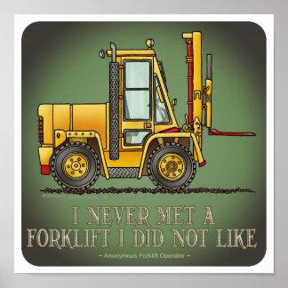 Poster de la cita del operador de la carretilla el