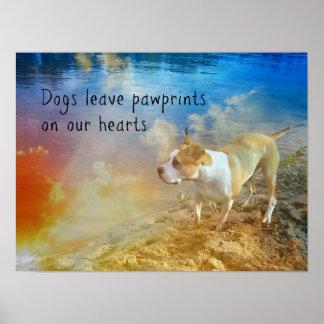 Poster de la cita del perro - licencia Pawprints d