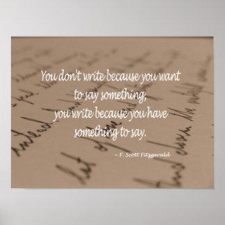 Poster de la cita para el escritor