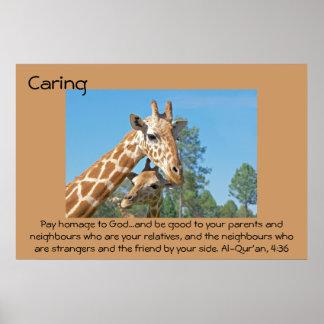 Poster de la cita que cuida - jirafas