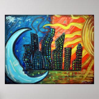 Poster de la ciudad celestial