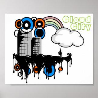 Poster de la ciudad de la nube
