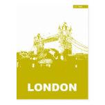 Poster de la ciudad de Londres Tarjeta Postal