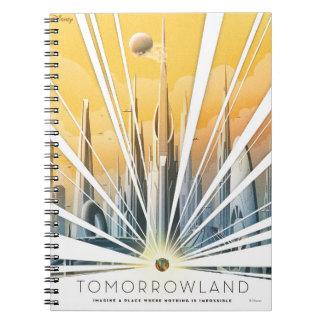 Poster de la ciudad de Tomorrowland Libretas