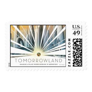Poster de la ciudad de Tomorrowland Sellos Postales