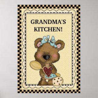 Poster de la cocina de la abuela póster