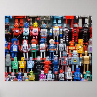 Poster de la colección del robot del juguete de la