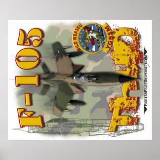 Poster de la comadreja F-105 (de color claro)