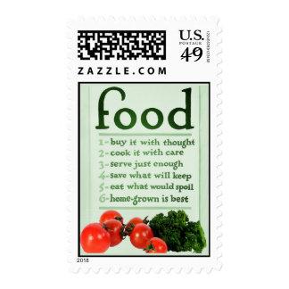 Poster de la comida del vintage sellos