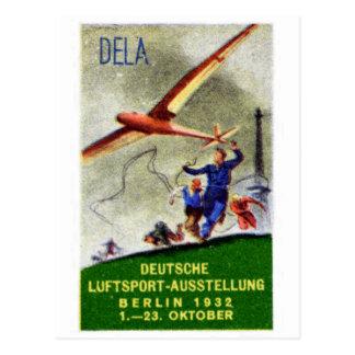Poster de la competencia de 1932 aviones modelo postal