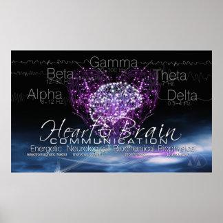 Poster de la comunicación del cerebro del corazón póster