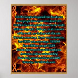 Poster de la conciencia de CRPS con diseño impreso