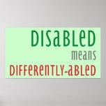 Poster de la conciencia de la incapacidad