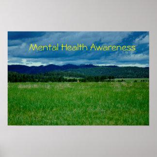Poster de la conciencia de la salud mental/de