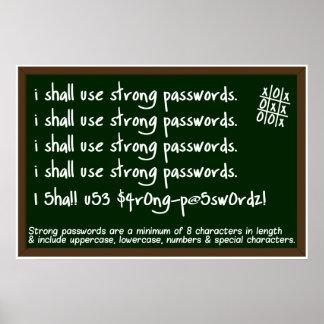 Poster de la conciencia de la seguridad de informa