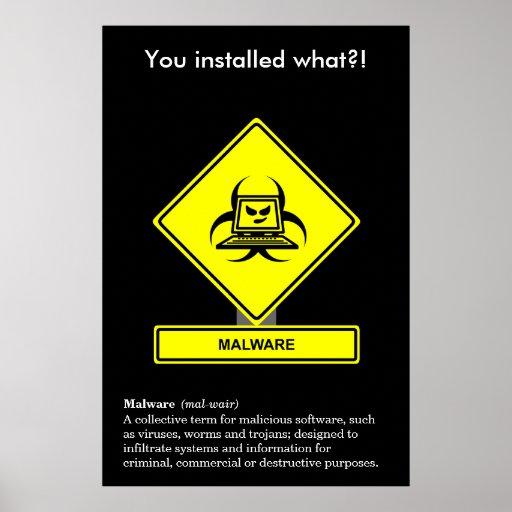 Poster de la conciencia de la seguridad de Malware