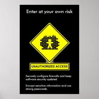 Poster de la conciencia de la seguridad del acceso