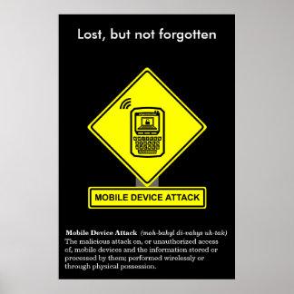 Poster de la conciencia de la seguridad del ataque