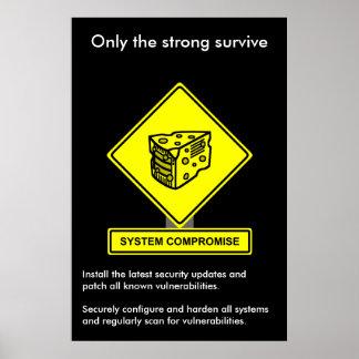 Poster de la conciencia de la seguridad del compro
