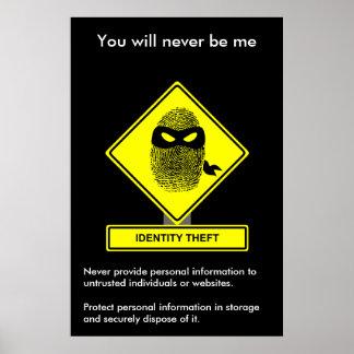 Poster de la conciencia de la seguridad del hurto