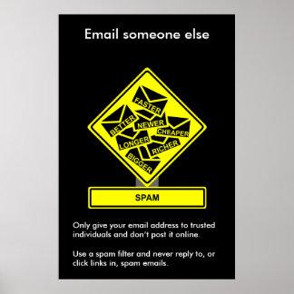 Poster de la conciencia de la seguridad del Spam