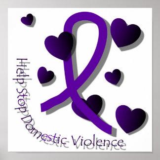 Poster de la conciencia de la violencia en el hoga