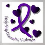Poster de la conciencia de la violencia en el hoga póster