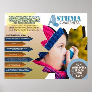 """Poster de la conciencia del asma (20"""" x 16"""")"""