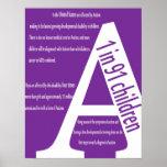 Poster de la conciencia del autismo