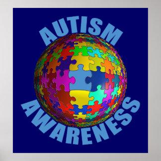 Poster de la conciencia del autismo del mundo ext