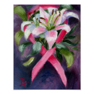 Poster de la conciencia del cáncer de pecho que cu