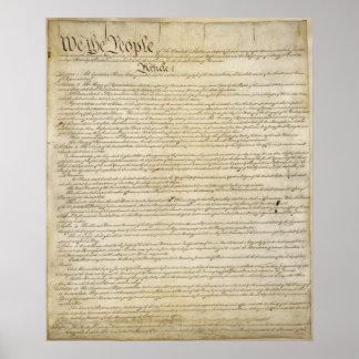 Poster de la constitución de los E.E.U.U.