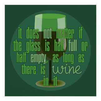 Poster de la copa de vino