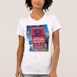 Poster de la cordura con la playa camisetas