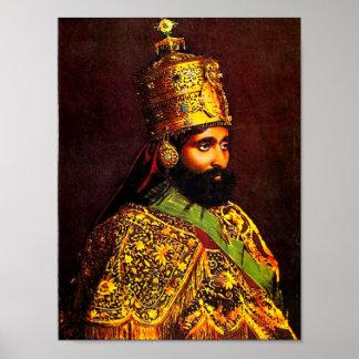 Poster de la coronación de Haile Selassie I