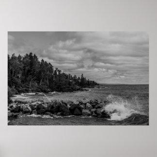 Poster de la costa costa del lago Superior